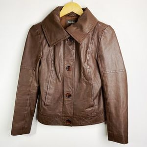 Soia & Kyo 100% Leather Jacket Brown Size S